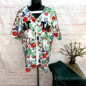 Married to the mob floral jersey medium